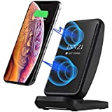 Fast Wireless Charger, INVZI Wireless Charging Stand Compatible for iPhone Xs MAX/XR/XS/X/8/8 Plus,10W Compatible for Samsung Galaxy Note 9/S9/S9 Plus/Note 8/S8, Wireless Charger with Cooling Fan.
