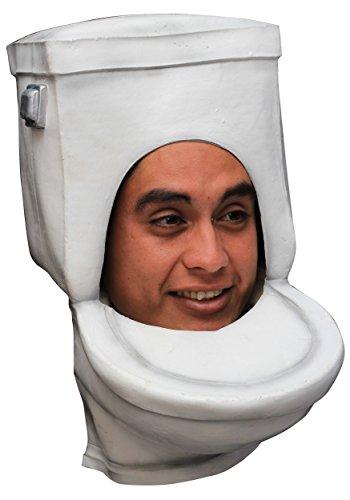 Men's Toilet Bowl Overhead Gag Face Mask Halloween
