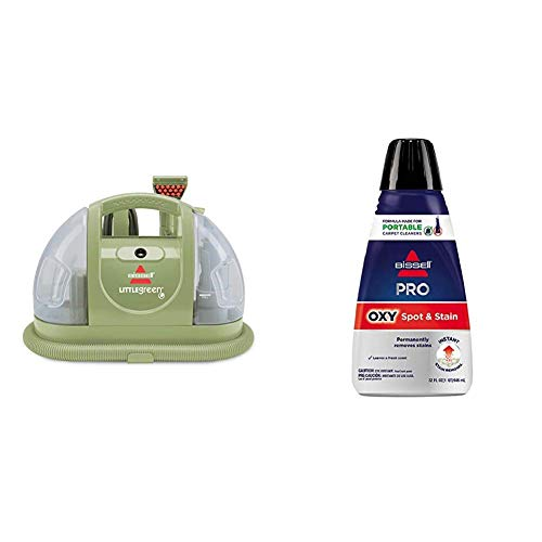 Bissell Multi-Purpose Portable Carpet and Upholstery Cleaner, 1400B &  Professional Spot and Stain + Oxy Portable Machine Formula, 32 oz, 32 Fl Oz ()