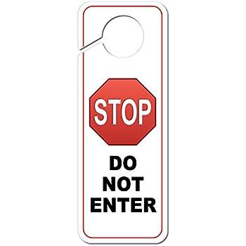 door handle signs template