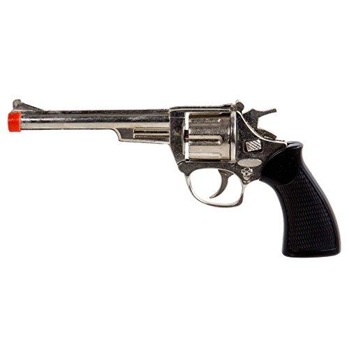 8 Shot Cap Guns (ibobby, Cowboy Die Cast 8-shot .38 Cap Gun, 9.5 inches, Black)