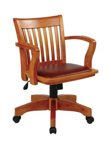 wood bankers chair - 5