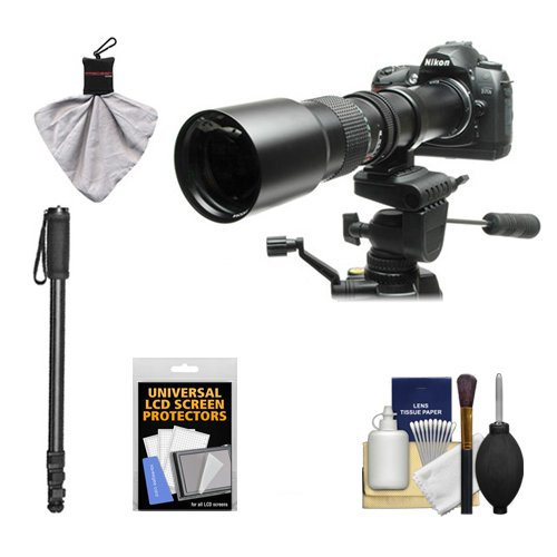 Rokinon 500mm f/8 Telephoto Lens with 2x Teleconverter  + Mo