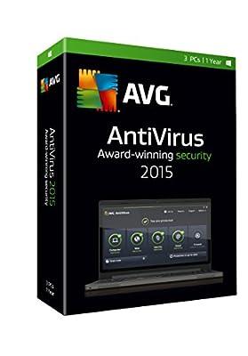 AVG AntiVirus 2015, 3 User 1 Year