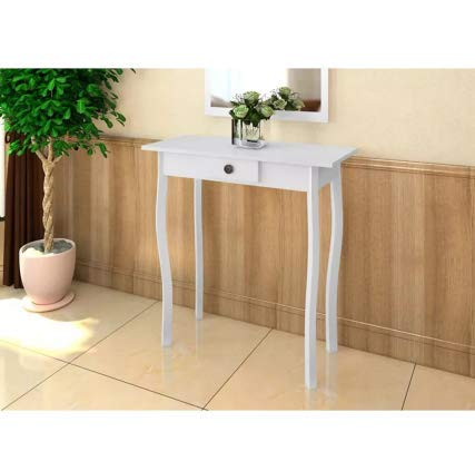 Console Table MDF White Stylish Excellent Elegant Space MDF 29'' x 14'' x 29'' SKB Family by SKB family (Image #3)