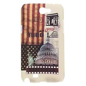 Bkjhkjy Retro Style The White House Pattern Hard Case for Samsung Galaxy Note 2 N7100