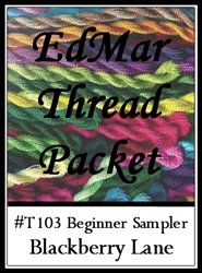 Brazilian Embroidery Stitches (Beginner Sampler (Mauve) - Blackberry Lane Brazilian Embroidery EdMar thread packet only #T103M )