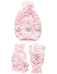 Girls Jeweled Hat and Popover Glove Set