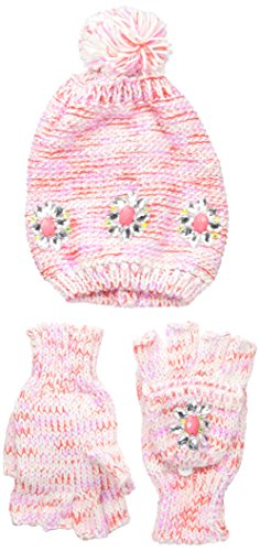 ABG Accessories Big Girls Jeweled Hat and Popover Glove Set, Pink, One Size