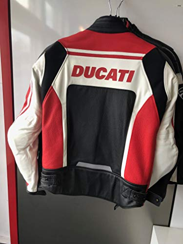 Ducati 981029848 Corse C2 Leather Riding Jacket - Red - Size 48