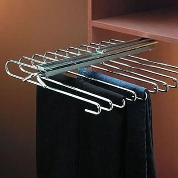 IRONMONGERY World® 1 x percha para pantalones extraíble ...