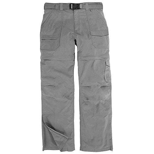EMS Women's Camp Cargo Zip-Off Pant Neutral Grey Black 12/S