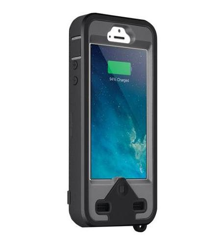 MFI Apple Certified - ibattz Mojo Armor S Removable Battery Case for iPhone 5/5S - BLACK - 100% Additional Battery Life (2200mAh) (fits all models of iPhone 5/5S - AT&T, Sprint & Verizon)