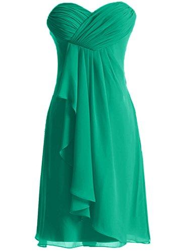 Vert Court sans de de Robe Cocktail Robe d'honneur Robe Bal soire Robes de Demoiselle Bretelles Bq7HEwWS6