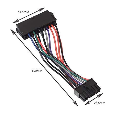 ATX PSU Adaptador de alimentaci/ón Principal Cable Plug and Play para Lenovo IBM DELL A75 B75 Q75 Q77 4 Pulgadas Color: Negro Pudincoco 24 Pines a 14 Pines