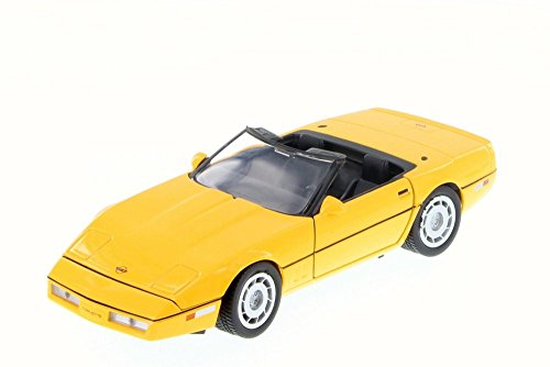 - Motor Max 1986 Chevy Corvette Convertible, Yellow 73298/16D - 1/24 Scale Diecast Model Toy Car but NO BOX