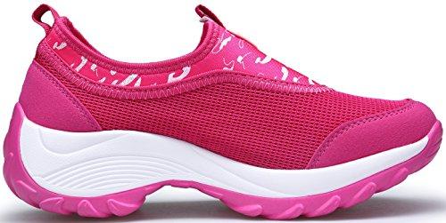 Leggero Casual Corsa Ginnastica Fitness Grigio Sneakers Sportive Dengbosn Donna Scarpe Rosa Da Nero 1xI80