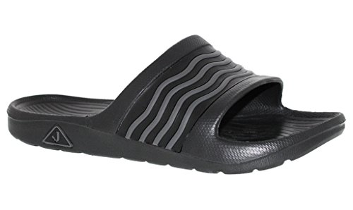 Mens Athletic Slide Sandaal Zwart