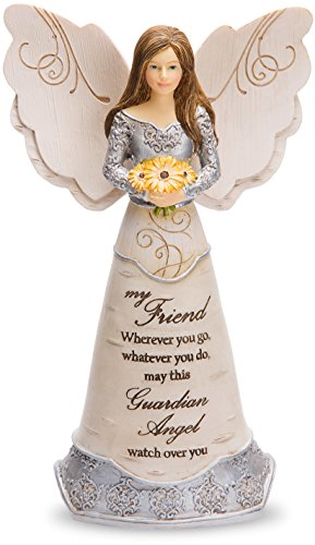 "Pavilion Gift Company Elements Friend Guardian Angel Figurine, 6"", Yellow"