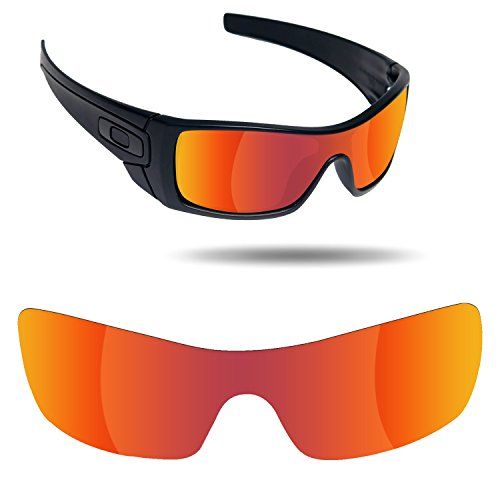 Fiskr Anti-Saltwater Replacement Lenses for Oakley Batwolf Sunglasses - Various - Lenses Sunglasses Oakley Red