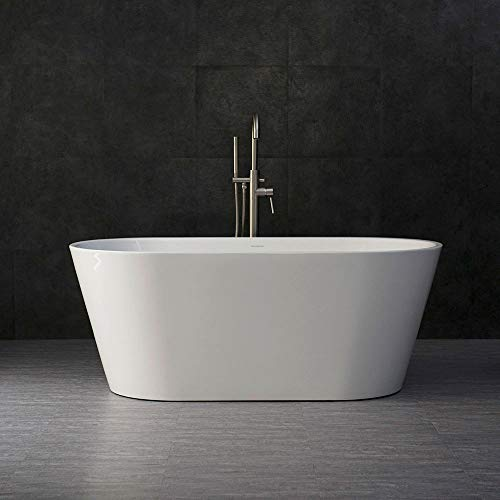 Find Cheap WOODBRIDGE BTA 1514 59 Acrylic Freestanding Bathtub Contemporary Soaking Tub with Brushe...