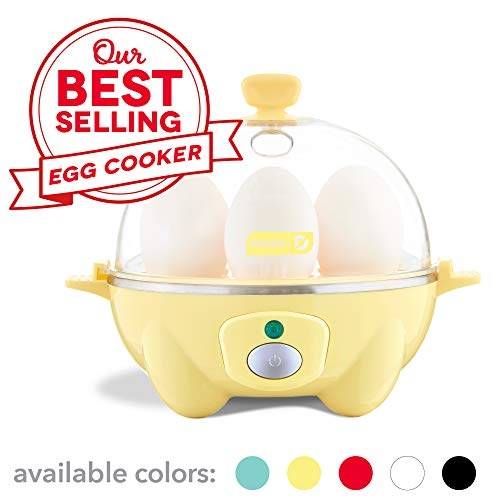 (Dash Rapid Egg Cooker: 6 Egg Capacity Electric Egg Cooker for Hard Boiled Eggs, Poached Eggs, Scrambled Eggs, or Omelets with Auto Shut Off Feature - Yellow)