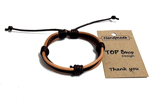 style Mens Vintage Leather Wrist Bangle Brown Rope Bracelet