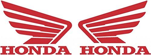 Set of 2 Honda Wing Tank Decals (Honda Atv Decals)