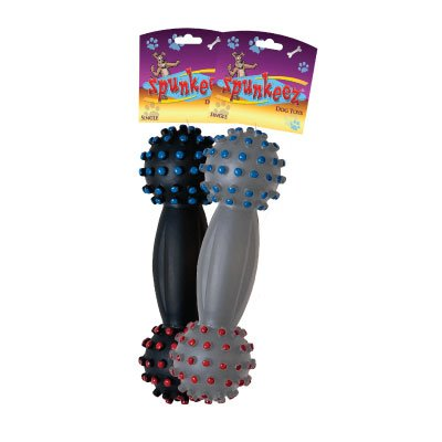 SPUNKEEZ VINYL DUMBBELL ASST 7'' #35245, CASE OF 144 by DollarItemDirect