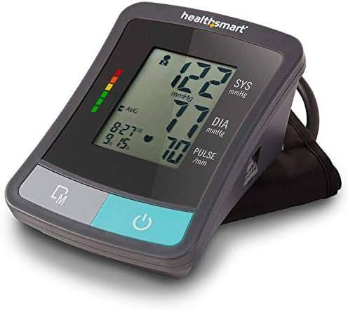 Blood Pressure Monitor Arm Cuff - Standard Digital Wireless Portable Blood Pressure Gauge Kit Monitors for Pulse, Irregular Heartbeat, and High & Low Blood Pressure
