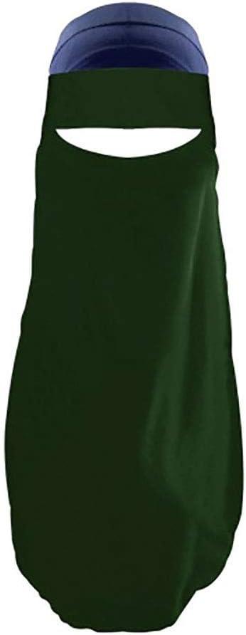 hearsbeauty Couleur Unie Arabe Musulman Femmes Hijab Niqab Islamique Bandeau Foulard Ch/âle AbricotNone