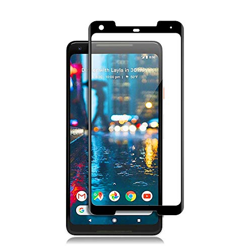Price comparison product image Google Pixel 2 XL Tempered Glass Screen Protector,Slaiver [Full Coverage][Anti-Scratch][Bubble-free][Ultra-Clear] 3D Tempered Glass Screen Protector for Google Pixel 2XL [Black]