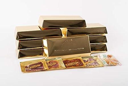 MAESTROS JAMONEROS Pack 8 Lingotes de Embutidos de Bellota 100% Ibérico, Jamón, Lomo, Chorizo y Salchichón, 1 Bolsa de Regañas de pan en Bandejas de 30grs
