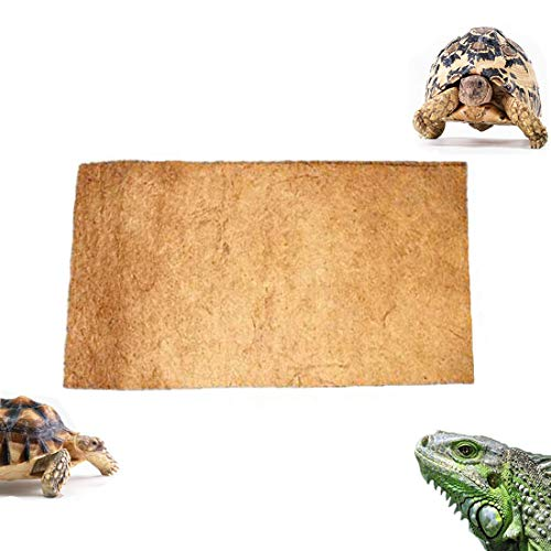 "Tfwadmx 23.6"" X 15.7"" Coconut Fiber Mat Reptiles Carpet Reptiles Cage Mat Substrate for Lizards/Turtles/Snakes Iguana Supplies"