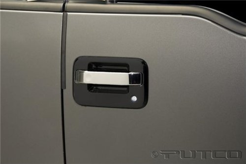 (Putco Chrome Door Handle Covers for Ford F150 4DR (Center Section Only))