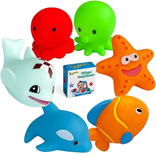 Vaitoys Baby Bath Toys Toddler Toys for 0 1 2 3 Year Old Boys Girls Bathtub Time Fun Educational Enhance Babies Children Thinking and Creativity