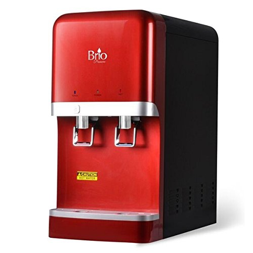 Bottleless Countertop Water Dispenser w/ 6 stage EZ Change R/O Filtration System by Brio and Magic Mountain Water Products Red