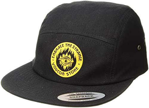 Volcom Men's Hot Visions 4 Panel Adjustable Custom Jocky Hat, Black, ONE Size FITS All