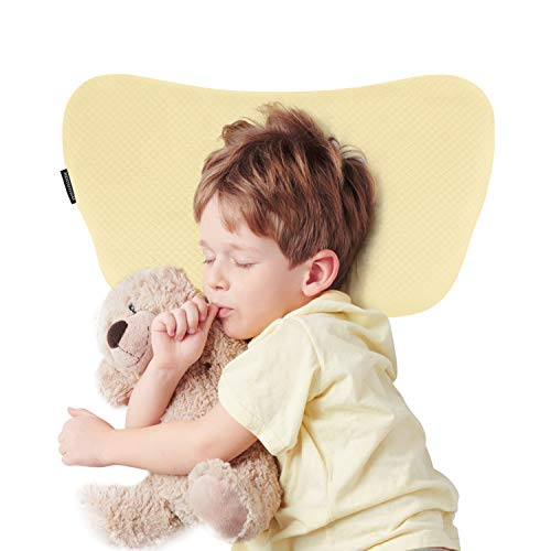BAMMAX Toddler Pillow, Baby Pillow, Baby Sleeping Pillow with Pillowcase, Soft Breathable Memory Foam Head Shaping…