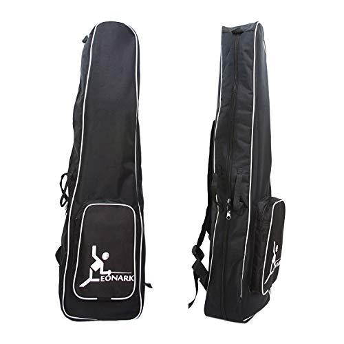 LEONARK Fencing Bag for Epee Saber and Foil - Portable Backpack for Fencing Sword Suit and Mask - Storage Bag for Both Adult and Child Fencers (Black -