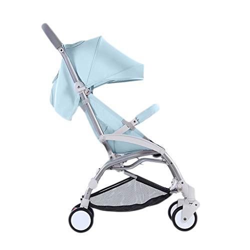 Comfortable Pushchair Baby Strollers Ultralight Easy Pocket Pushchairs Prams Portable Strollers Buggies Folding Can Sit Children Kids Travel Pushchair (Color : Blue, Size : 26.7715.7440.55inchs)