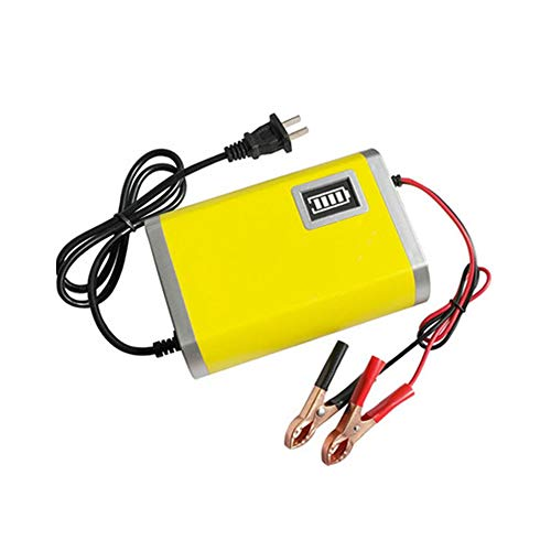 Charger 3 Stage (Carrfan Car Motorcycle Battery Charger 12V 2A Full Automatic Smart Power Charger Maintainer 3 Stages Lead Acid AGM Gel Intelligent LED Display)