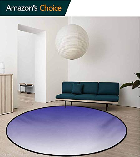 RUGSMAT Ombre Carpet Gray Round Area Rug,Twilight in The Morning Dawn of The Day Inspired Color Ombre Design Digital Print Pattern Floor Seat Pad Home Decorative Indoor,Diameter-31 Inch