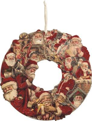 Santa Postcard Wreath