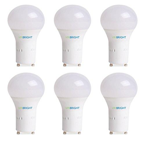 60 Watt Replacement, A19 LED light Bulb, Warm White 2700K, GU24 Base, Pack of 6