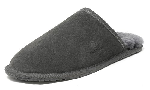 Comfy Men's Mules PAIRS Sheepskin DREAM Slippers Fur Fluffy Grey Avalon HO0qxwx5