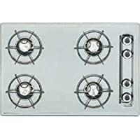 Summit WTL033 24 Gas Cooktop 4 Open Burners and Electronic Ignition: White