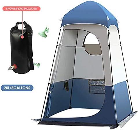 KKTECT Tienda de Aseo para Camping Tienda de Ducha emergente Tienda de privacidad Amplio Refugio al Aire Libre con Bolsa de Ducha Hang 20L Ducha ...