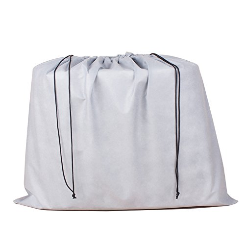 (2 Piece Non-woven Breathable Dust-proof Drawstring Storage Pouch (Gray))