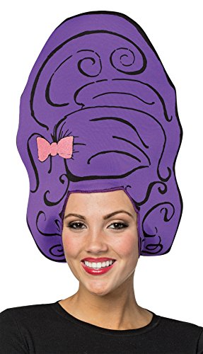 Rasta Imposta Women's Beehive Foam Headpiece Wig Style Hat Halloween Costume Accessory ()